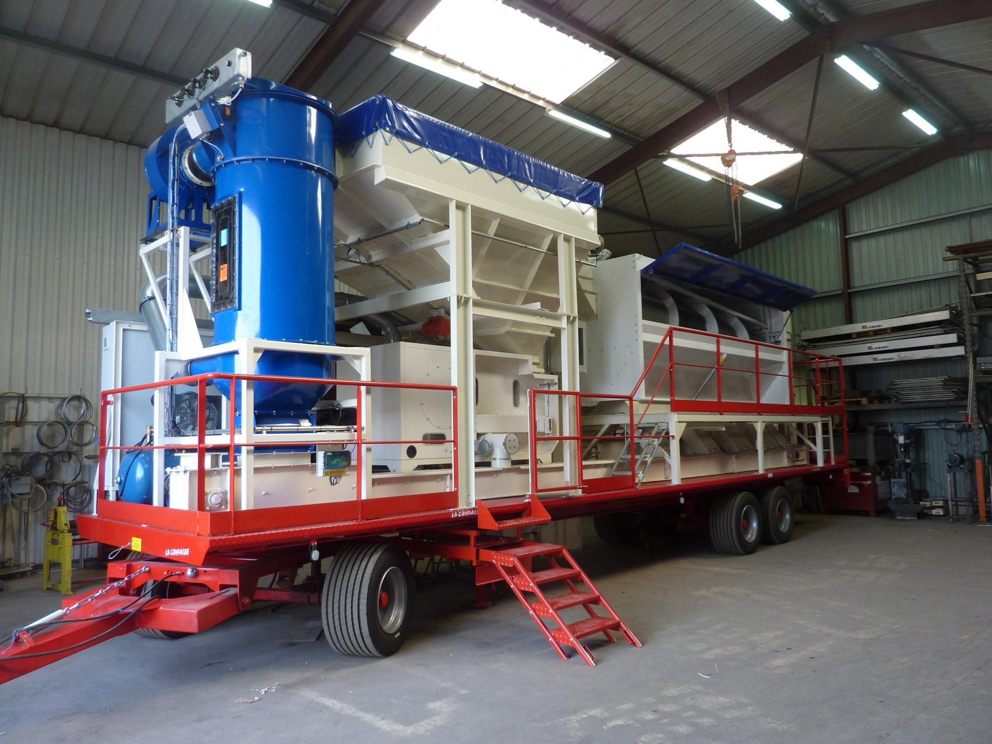 Unités Mobiles de travail du grain